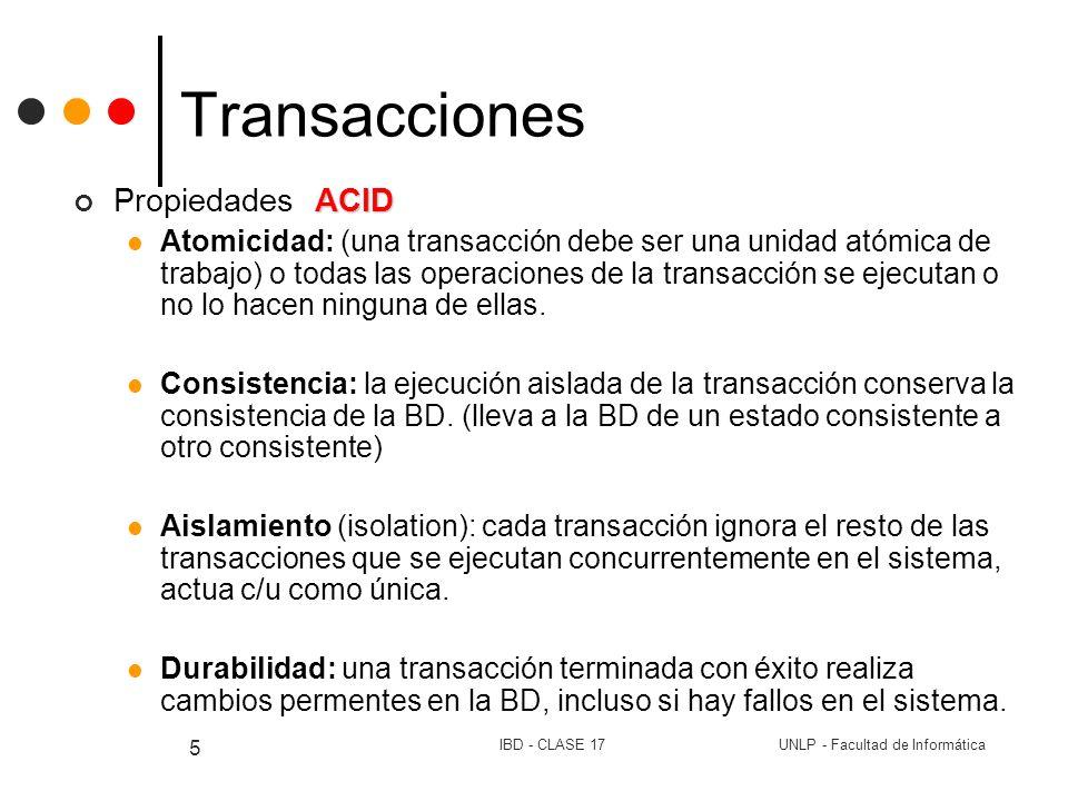 Transacciones Propiedades ACID