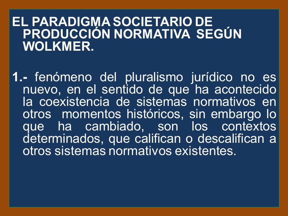 El paradigma societario de producción normativa según wolkmer. 1
