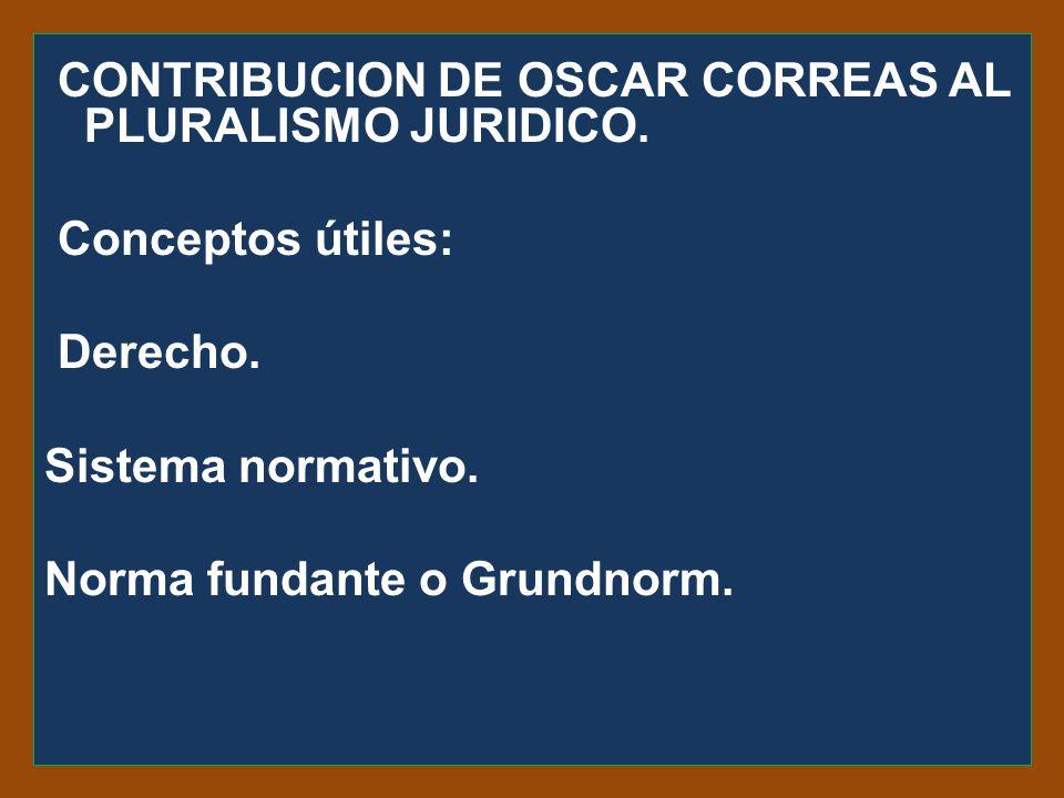 CONTRIBUCION DE OSCAR CORREAS AL PLURALISMO JURIDICO