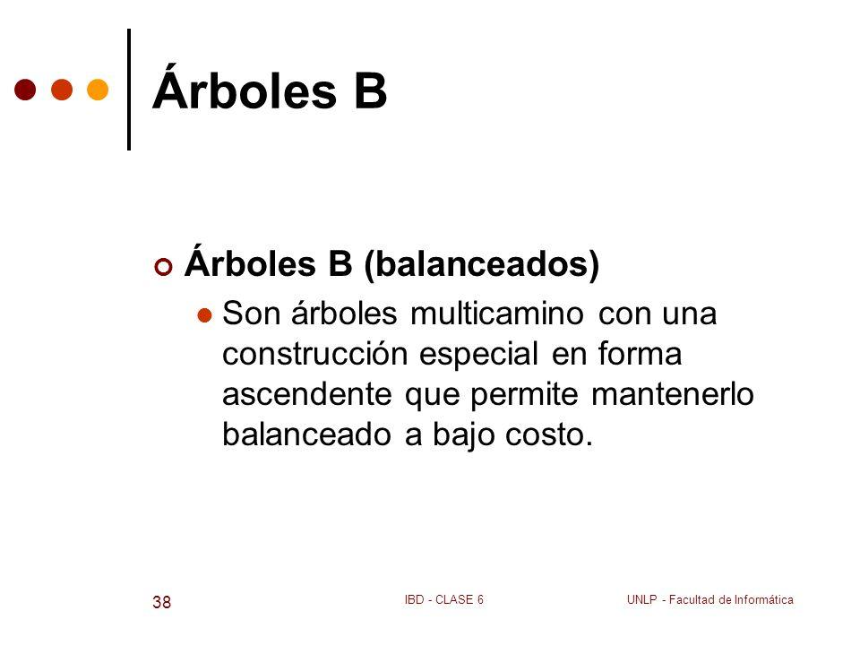 Árboles B Árboles B (balanceados)