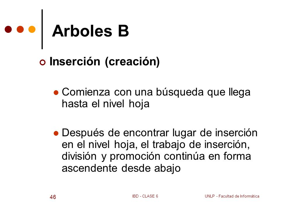 Arboles B Inserción (creación)