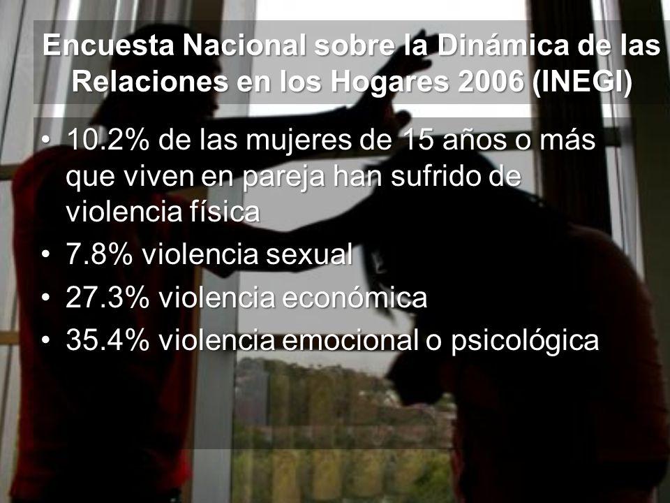 Encuesta Nacional sobre la Dinámica de las Relaciones en los Hogares 2006 (INEGI)