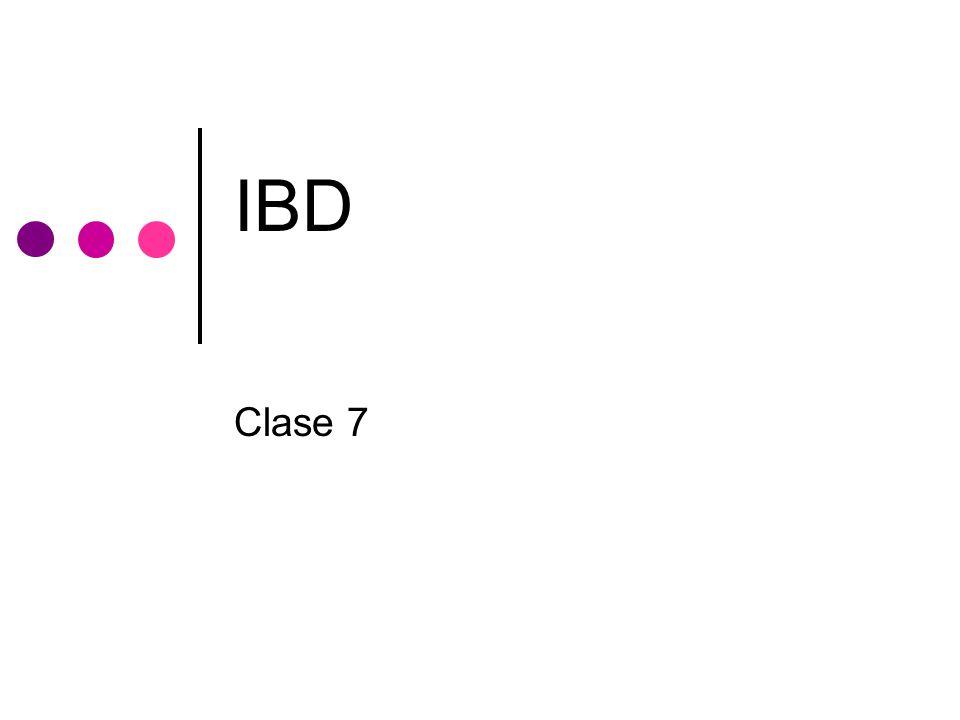 IBD Clase 7
