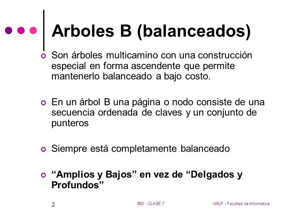Arboles B (balanceados)