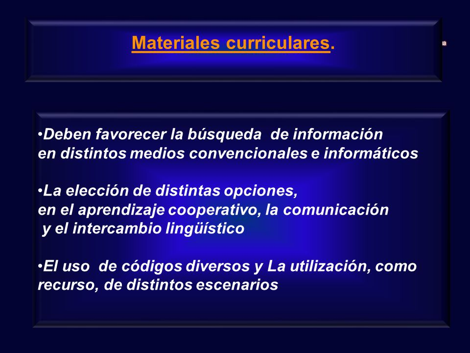 Materiales curriculares.