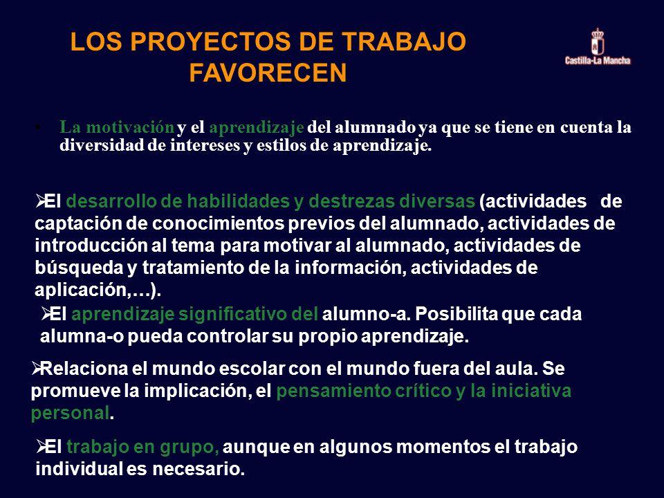 LOS PROYECTOS DE TRABAJO FAVORECEN