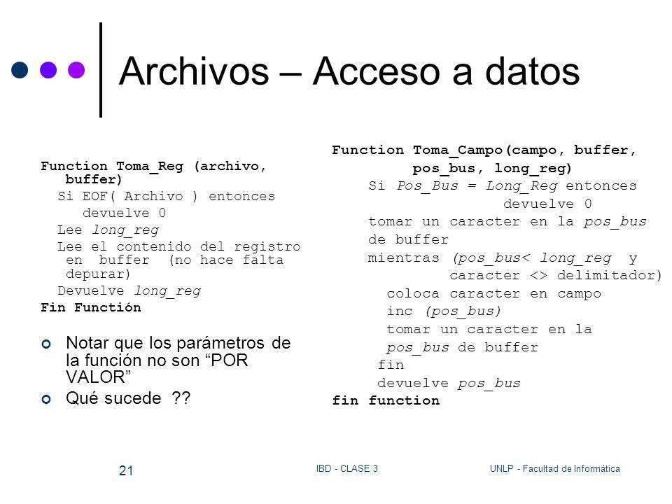 Archivos – Acceso a datos