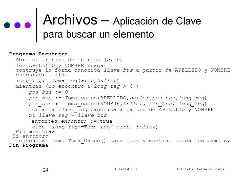 Archivos – Aplicación de Clave para buscar un elemento