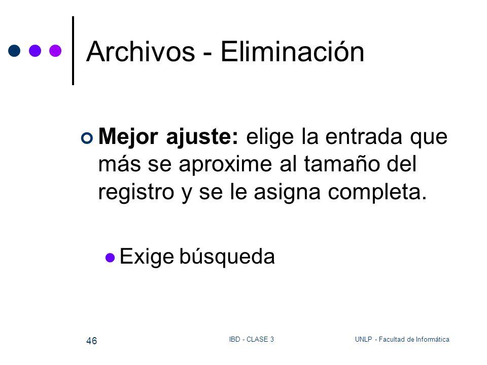 Archivos - Eliminación