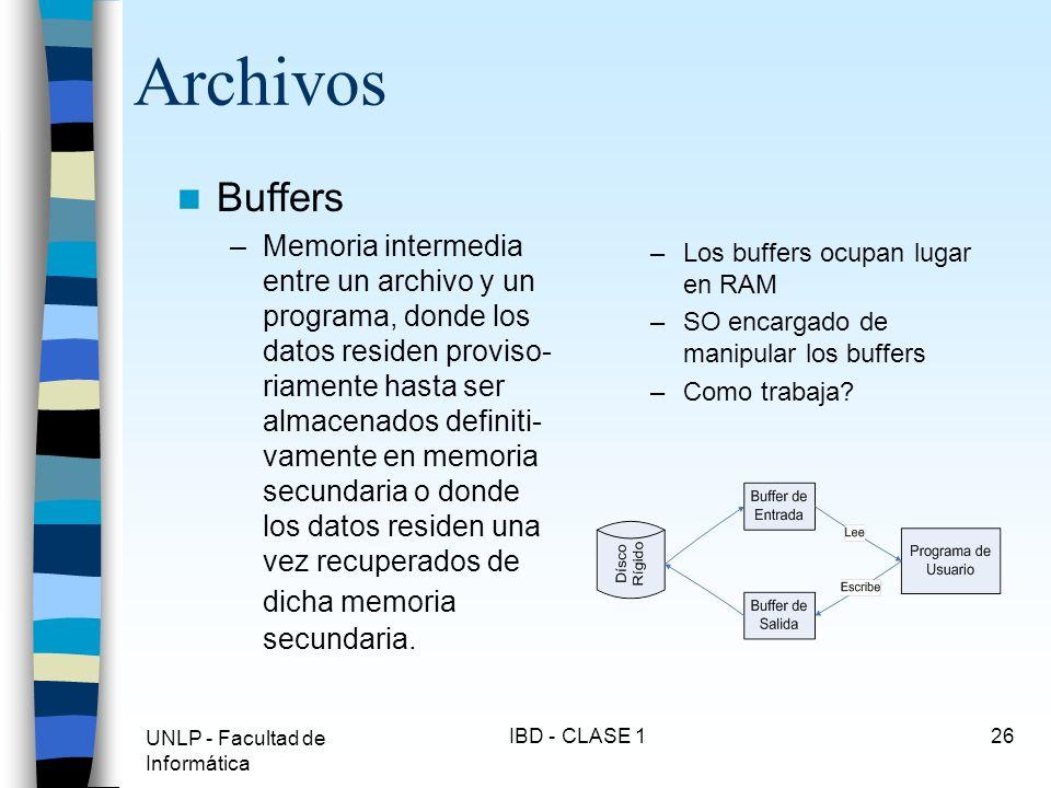 Archivos Buffers.
