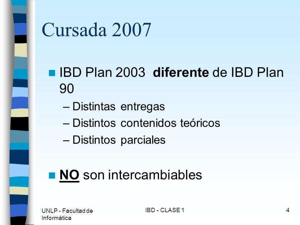 Cursada 2007 IBD Plan 2003 diferente de IBD Plan 90