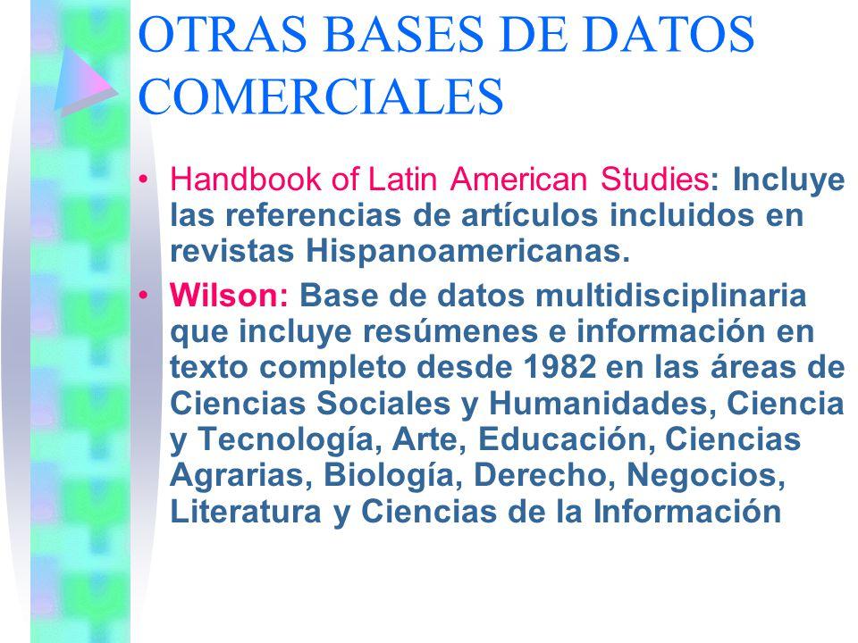 OTRAS BASES DE DATOS COMERCIALES