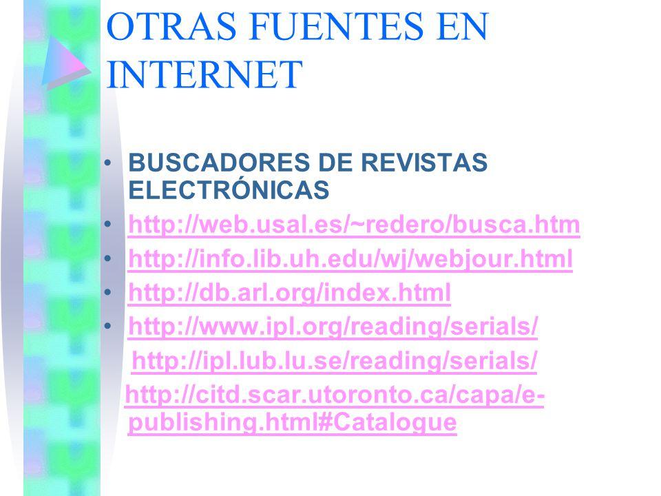 OTRAS FUENTES EN INTERNET