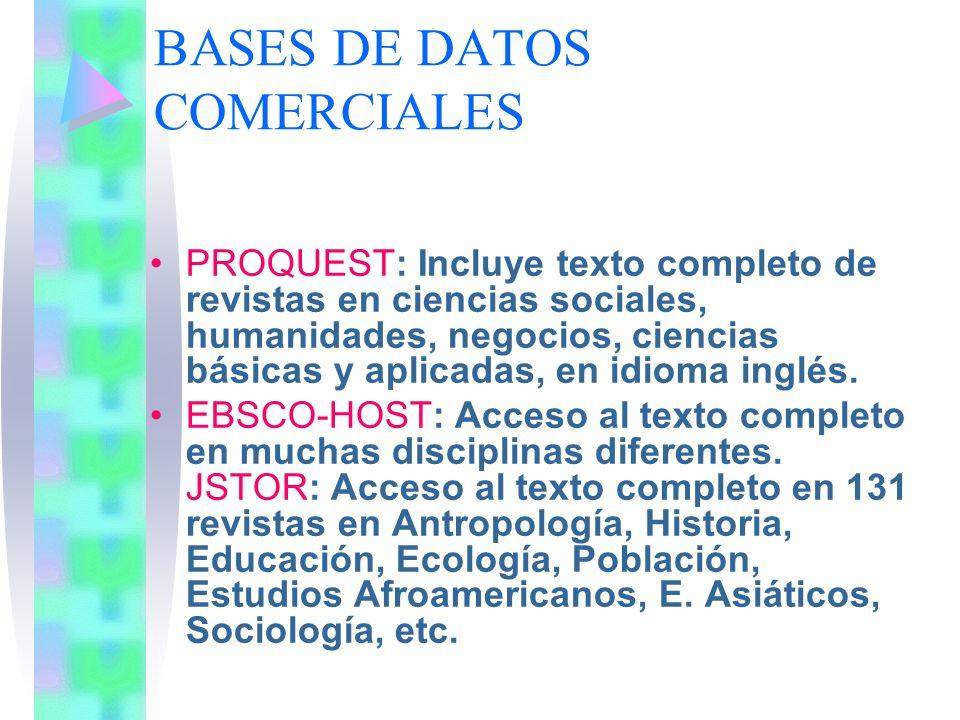 BASES DE DATOS COMERCIALES