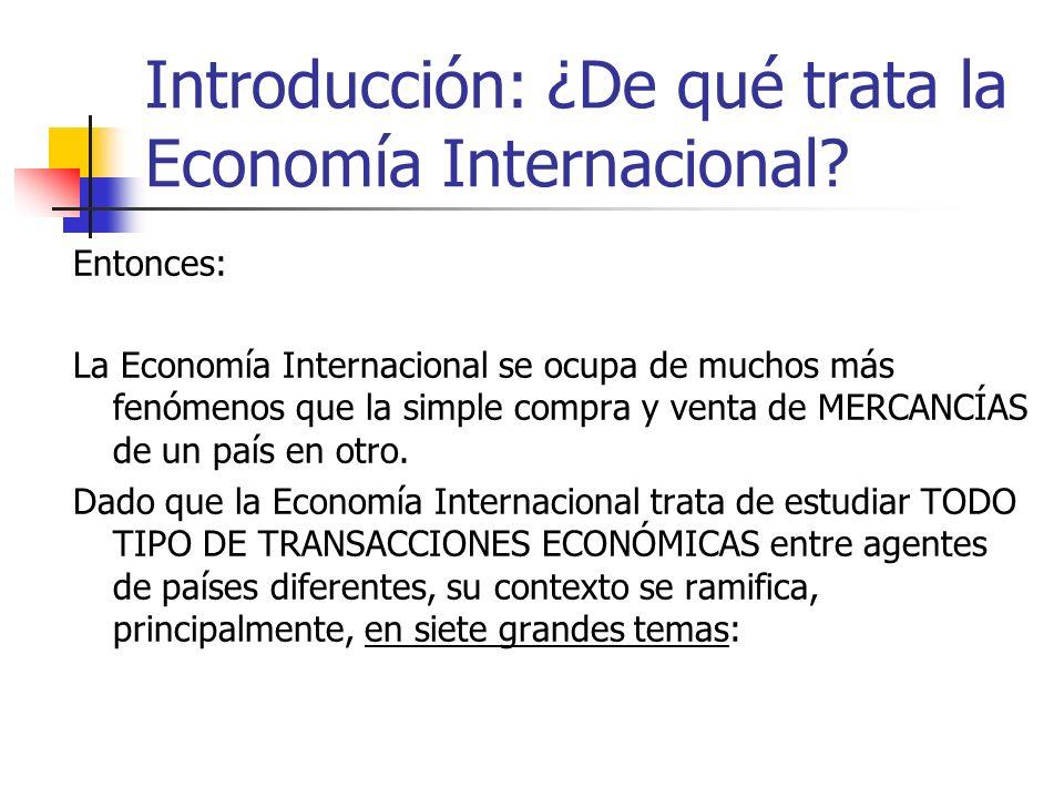 Introducción: ¿De qué trata la Economía Internacional