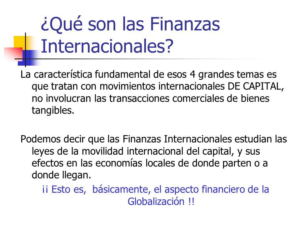 ¿Qué son las Finanzas Internacionales