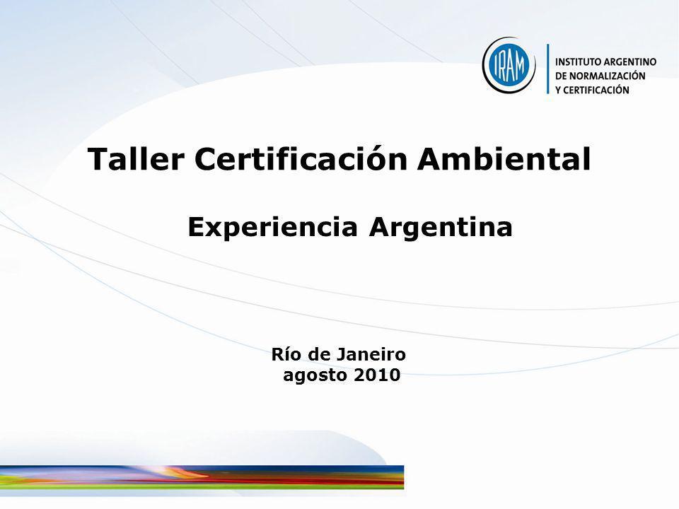 Taller Certificación Ambiental Experiencia Argentina