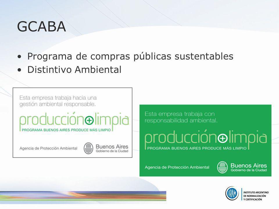 GCABA Programa de compras públicas sustentables Distintivo Ambiental
