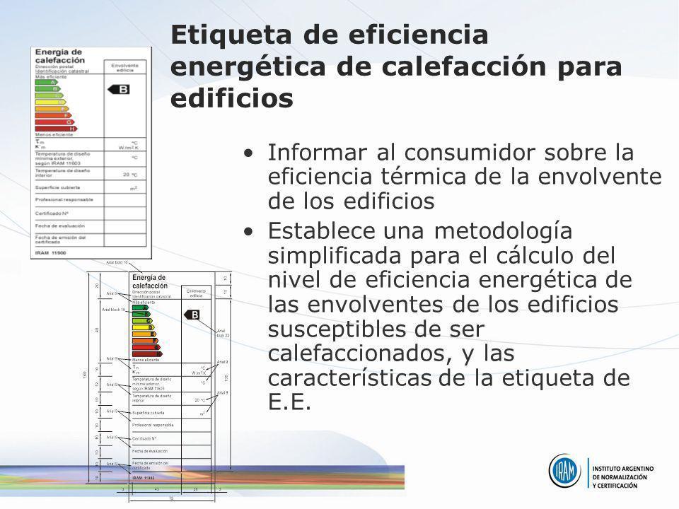 Etiqueta de eficiencia energética de calefacción para edificios