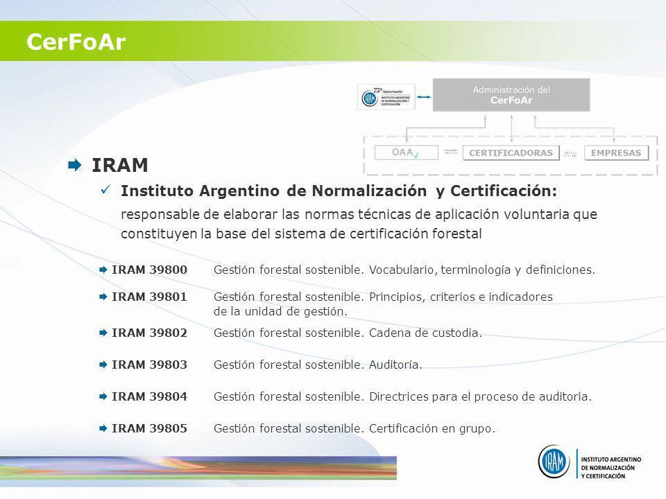 CerFoAr IRAM Instituto Argentino de Normalización y Certificación:
