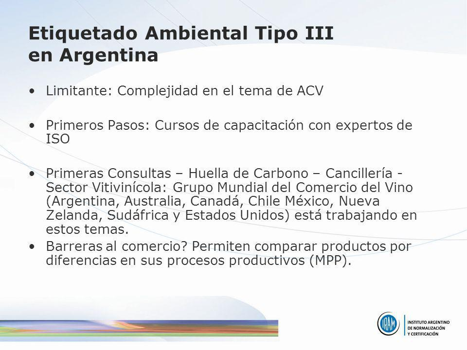 Etiquetado Ambiental Tipo III en Argentina