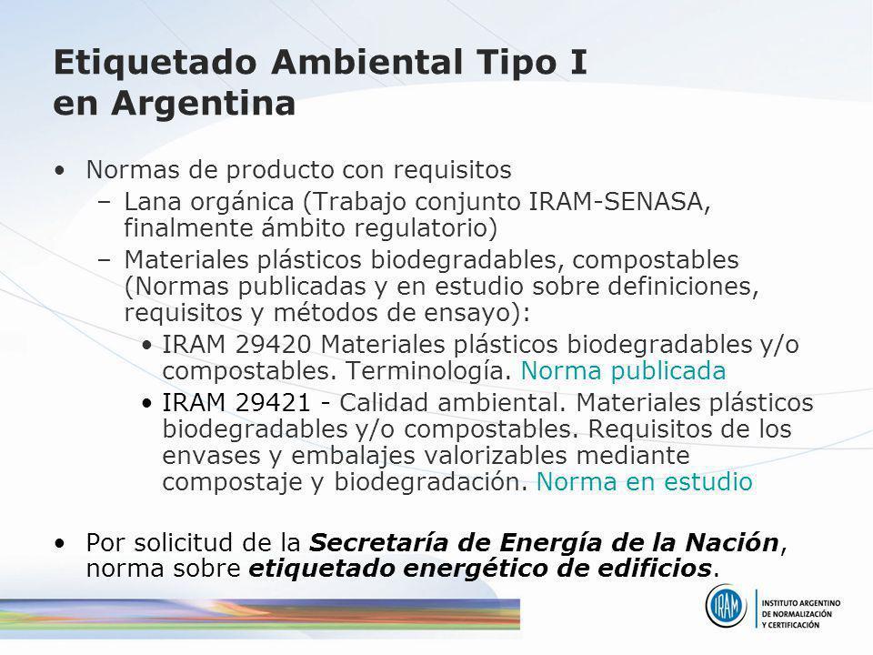 Etiquetado Ambiental Tipo I en Argentina