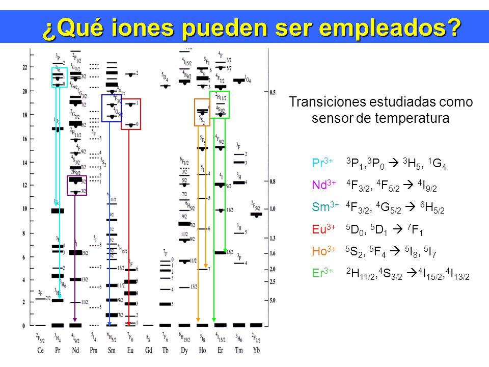 ¿Qué iones pueden ser empleados