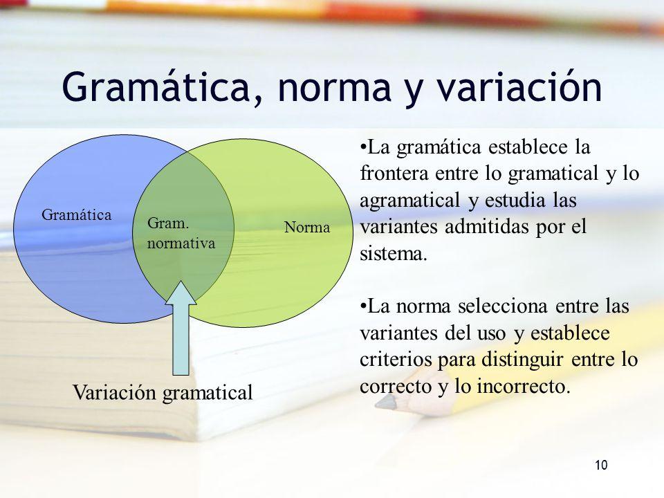 Gramática, norma y variación