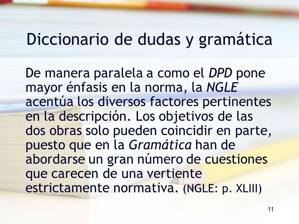 Diccionario de dudas y gramática