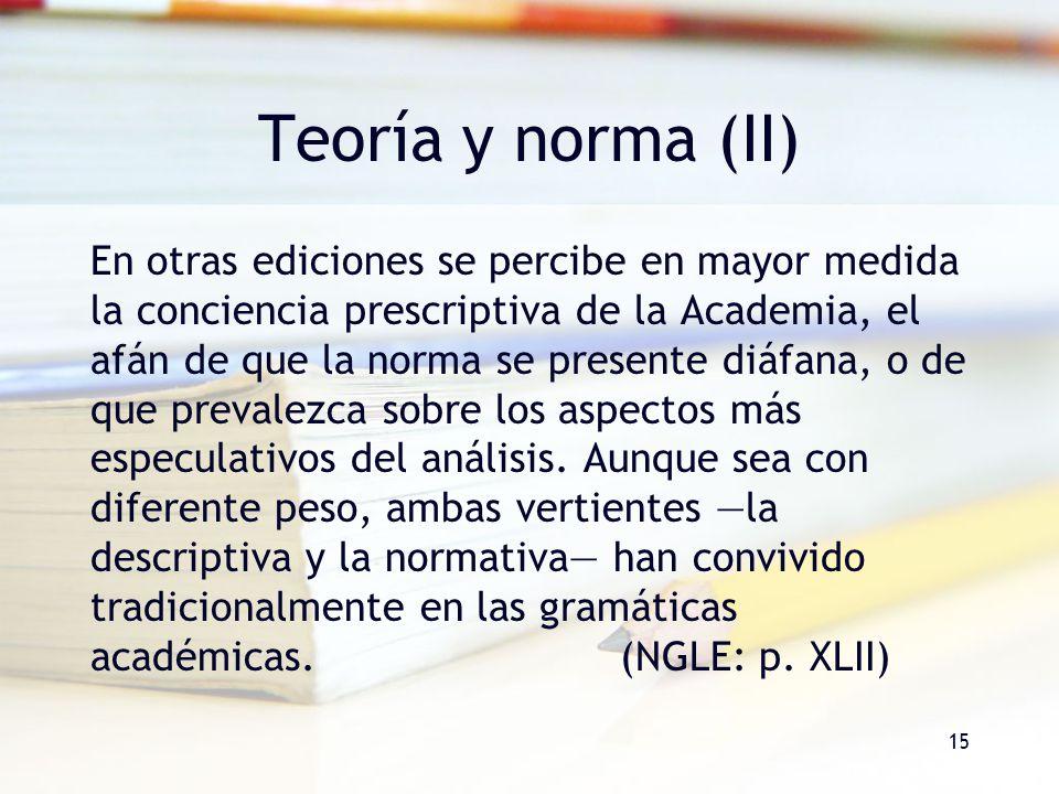 Teoría y norma (II)