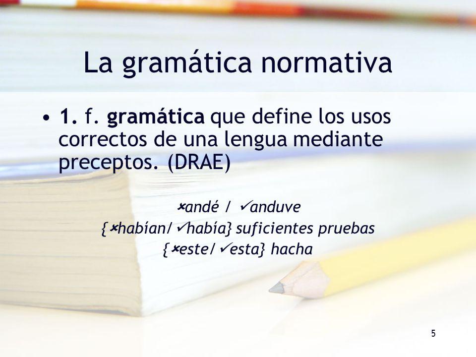 La gramática normativa