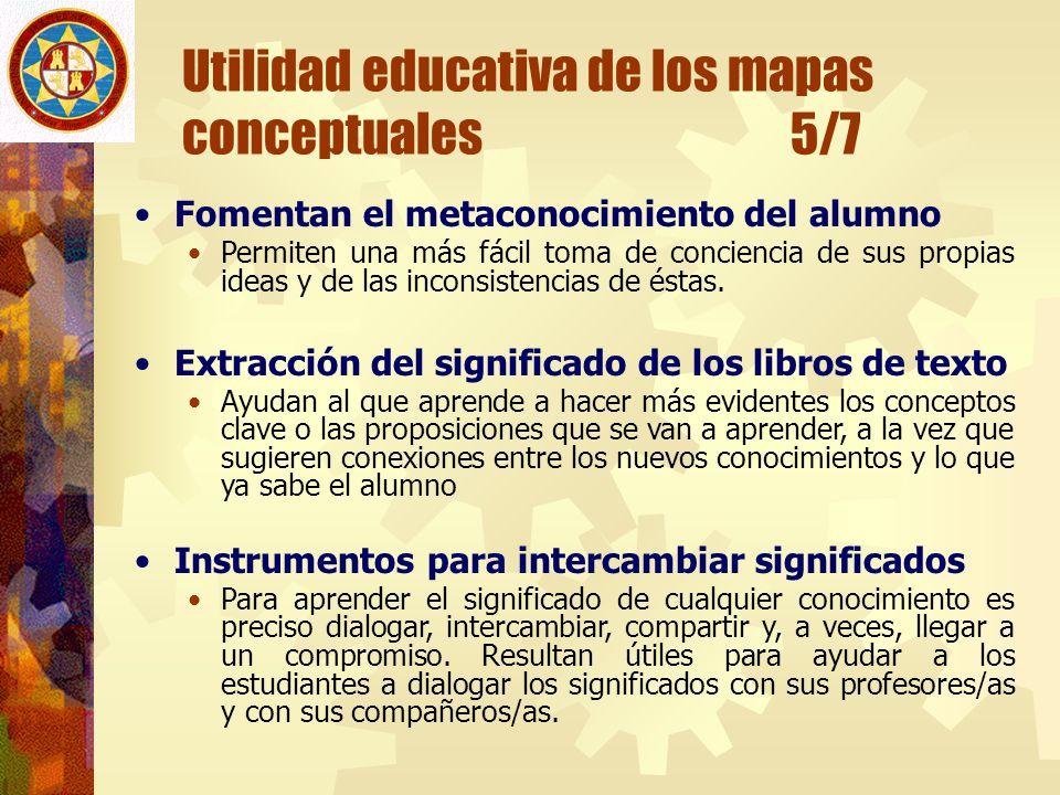 Utilidad educativa de los mapas conceptuales 5/7
