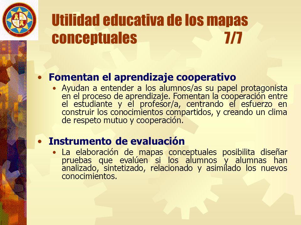 Utilidad educativa de los mapas conceptuales 7/7