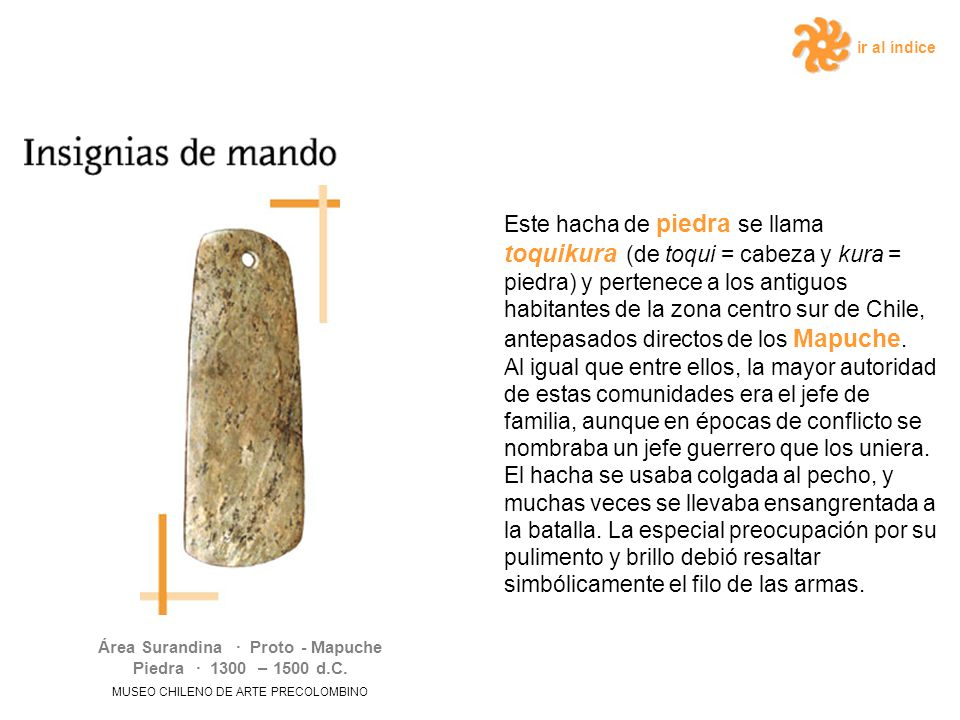 Área Surandina · Proto - Mapuche Piedra · 1300 – 1500 d.C.