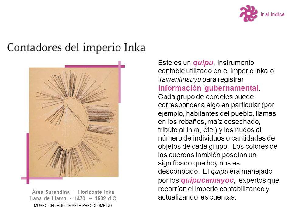 Área Surandina · Horizonte Inka Lana de Llama · 1470 – 1532 d.C