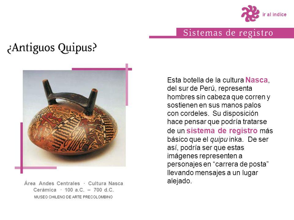 Área Andes Centrales · Cultura Nasca Cerámica · 100 a.C. – 700 d.C.