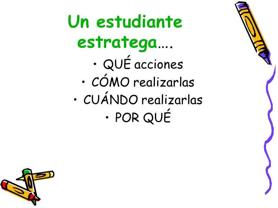 Un estudiante estratega….