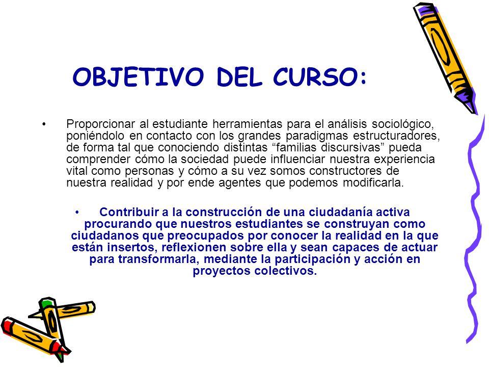 OBJETIVO DEL CURSO:
