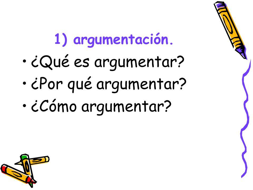 ¿Qué es argumentar ¿Por qué argumentar ¿Cómo argumentar