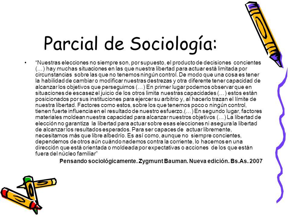 Parcial de Sociología: