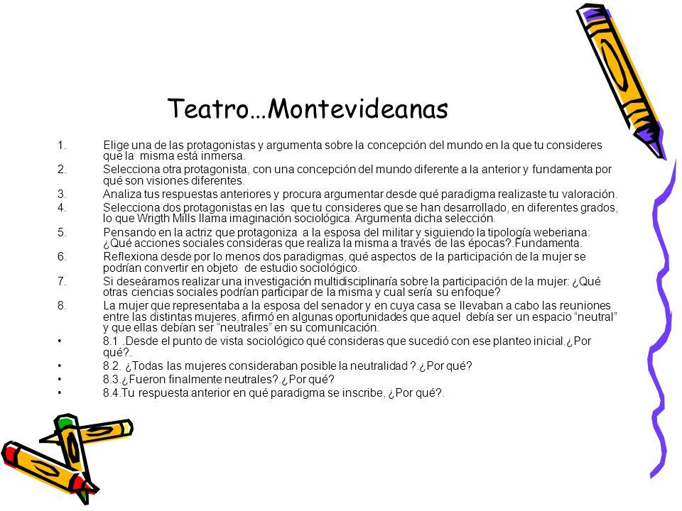 Teatro…Montevideanas