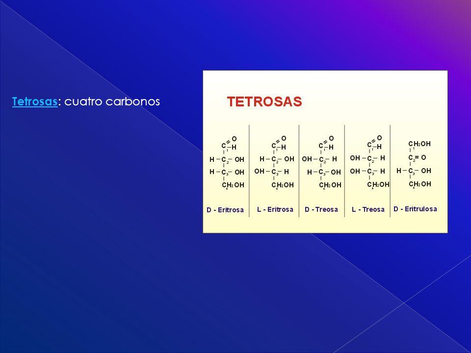 Tetrosas: cuatro carbonos
