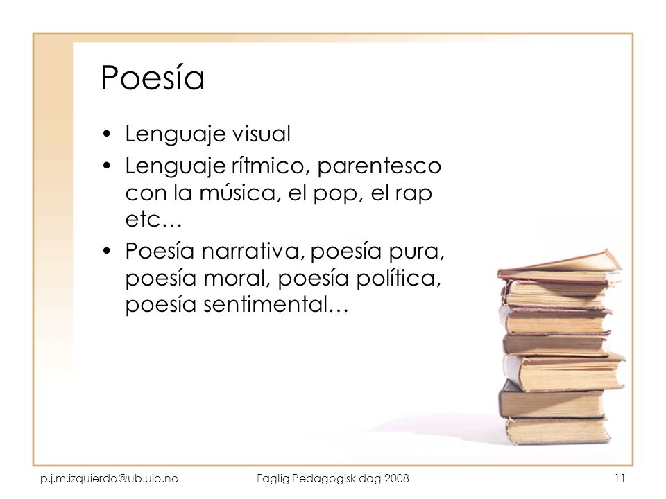 Poesía Lenguaje visual