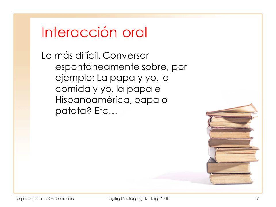 Interacción oral