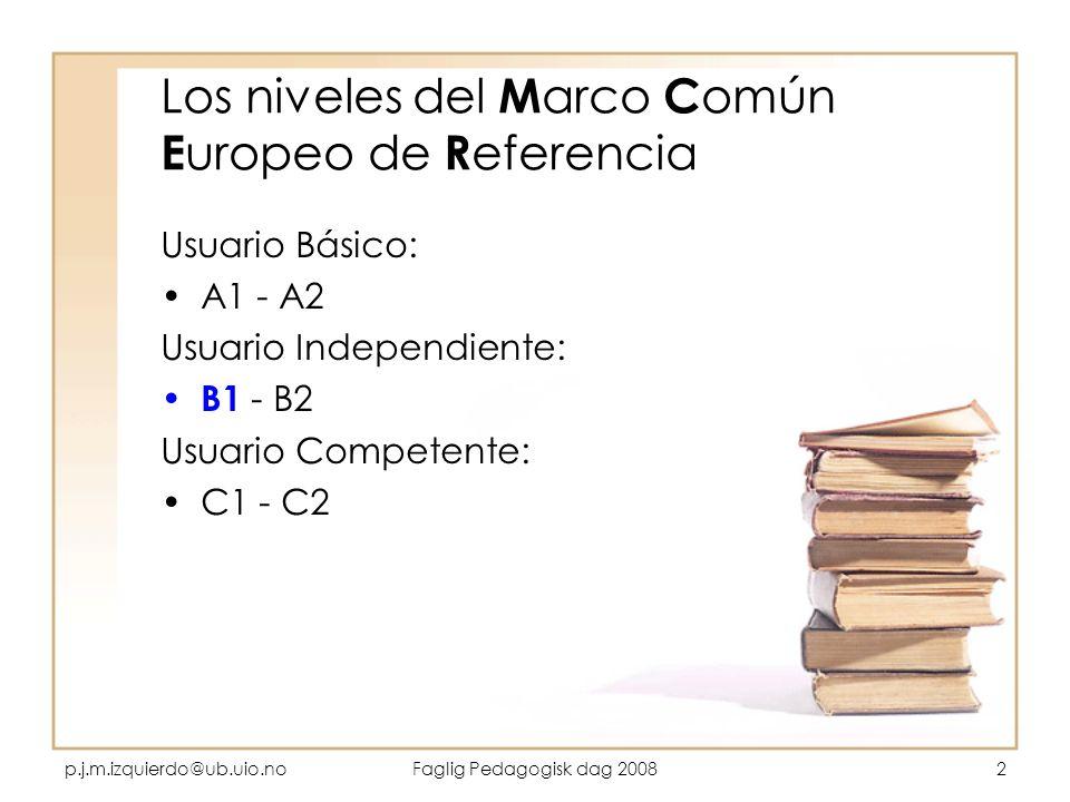 Los niveles del Marco Común Europeo de Referencia