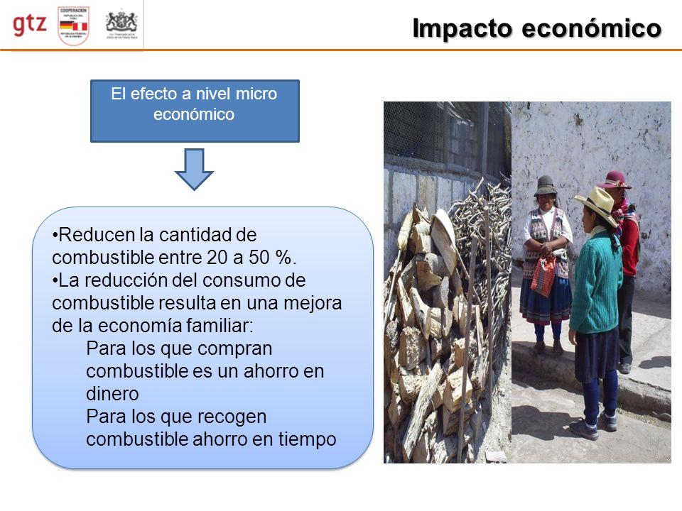 Impacto económico Reducen la cantidad de combustible entre 20 a 50 %.