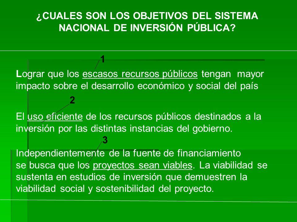 NACIONAL DE INVERSIÓN PÚBLICA