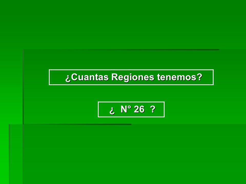 ¿Cuantas Regiones tenemos