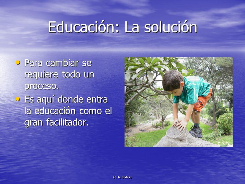 Educación: La solución