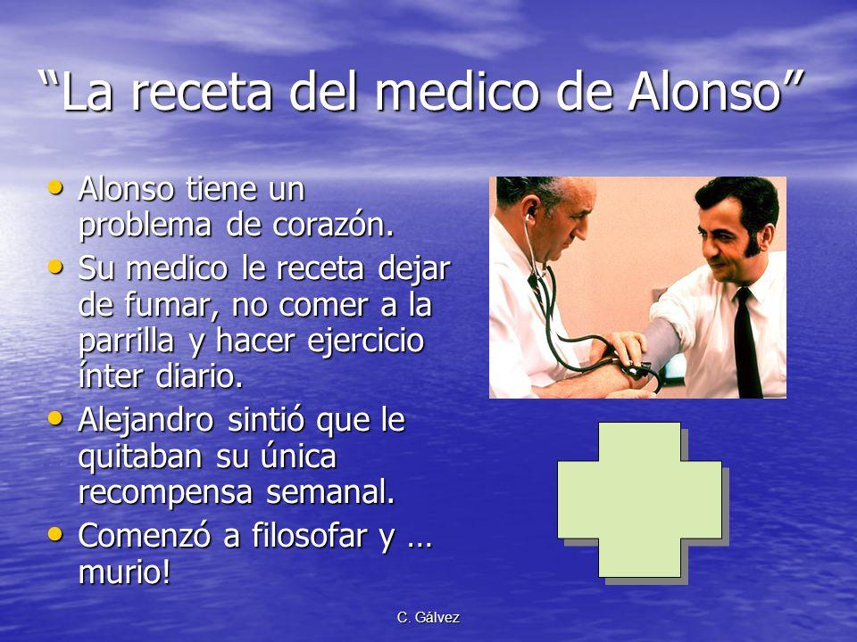 La receta del medico de Alonso